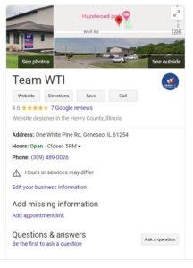 Google My Business Team WTI