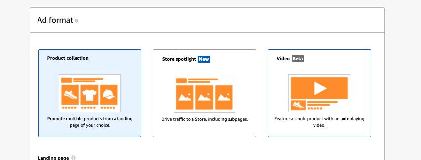 Amazon Video Ads under sponsored brands